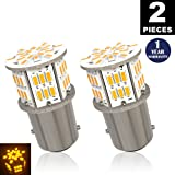 LUYED 2 x 650 Lumens Super Bright 1157 3014 54-EX Chipsets 1157 2057 2357 7528 LED Bulbs Used for Turn Signal,Amber