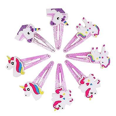 Beito clip 8pcs garra del pelo de los clips Chicas Chicas unicornio pelo de las horquillas Barrettes: Amazon.es: Joyería