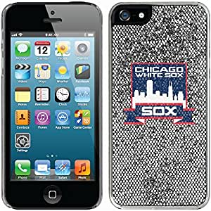 Chicago White Sox 1981-85 - Banner design on a Silver iPhone 5s / 5 Thinshield Glitter Bling Case