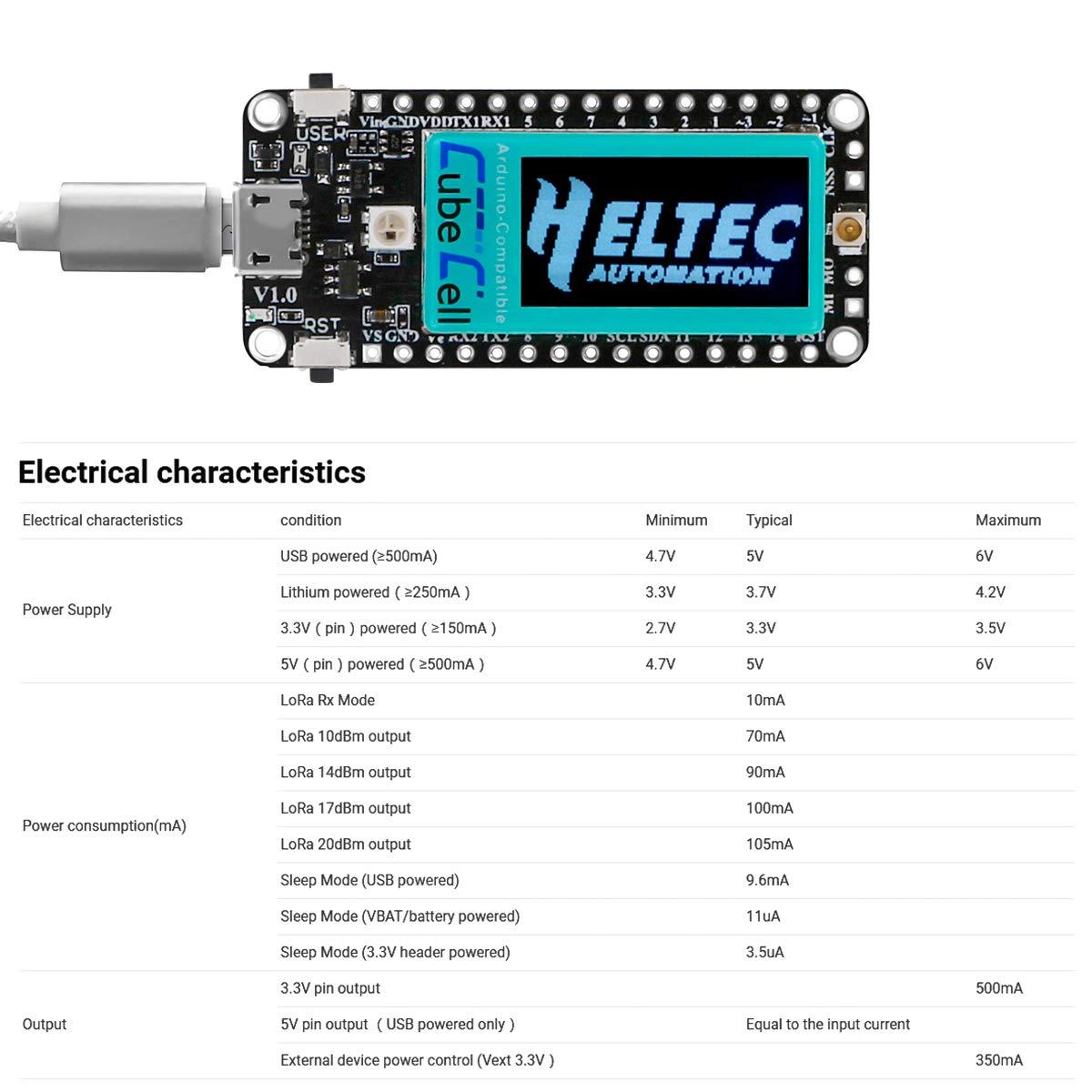 Lora Module SX1262 LoRaWAN 433 470 mHz IoT Development Board CP2102 ASR6502 MCU 128KB Flash Ultra Low Power Consumption Solar Energy Powered Design with Antenna for Arduino and Intelligent Scene