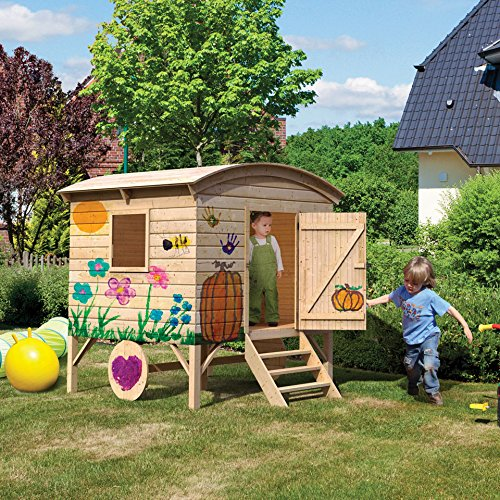 karibu kinderspielhaus bauwagen natur g nstig kaufen. Black Bedroom Furniture Sets. Home Design Ideas