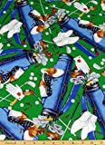 Hole in One Golf Equipment Fabric Sold by the Yard