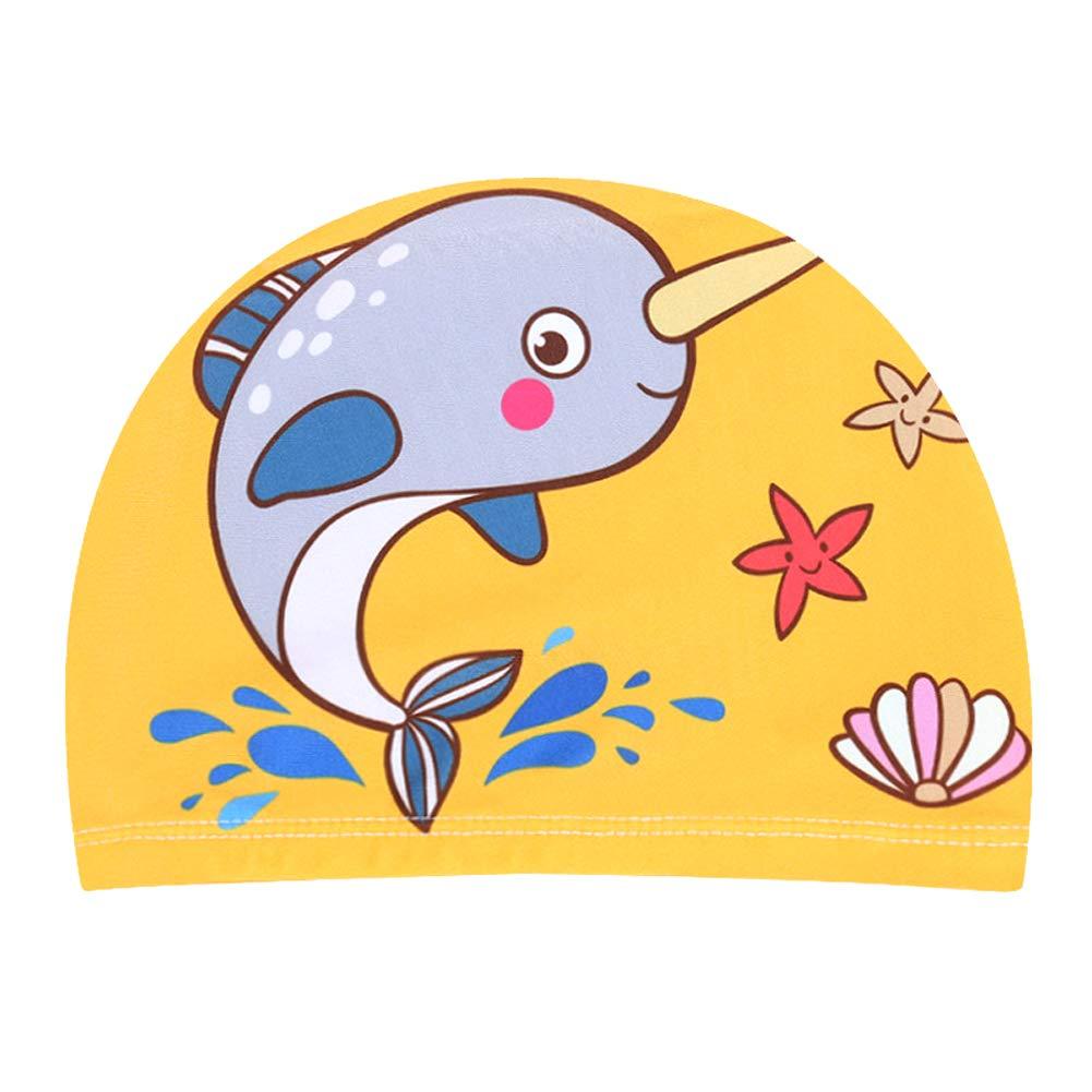 Dibujos Animados nataci/ón Sombreros Gorro de nataci/ón el/ástico de la Gorra de ba/ño para la Edad 6-10 ni/ñas y ni/ños KSELL Gorras de nataci/ón de Tela