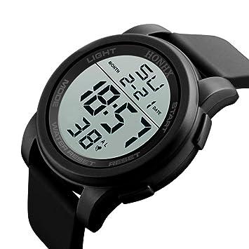 FECHA deportes pulsera reloj de pulsera digital, Y56 para hombre ejército Militar deportes LED Digital