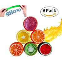 Party Propz Non Toxic Crystal Fruit Clay Slime Big Size | Colorful DIY Toy | Creative Rubber Soft Mud| Pack of 6 Assorted Colours