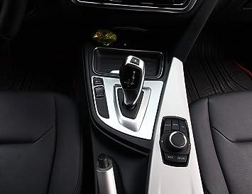 Top-Auto per BMW Serie 3 F30 316 318 320 328 2013 2017 Auto Styling ABS Cromato Cambio Pannello Adesivo Accessori