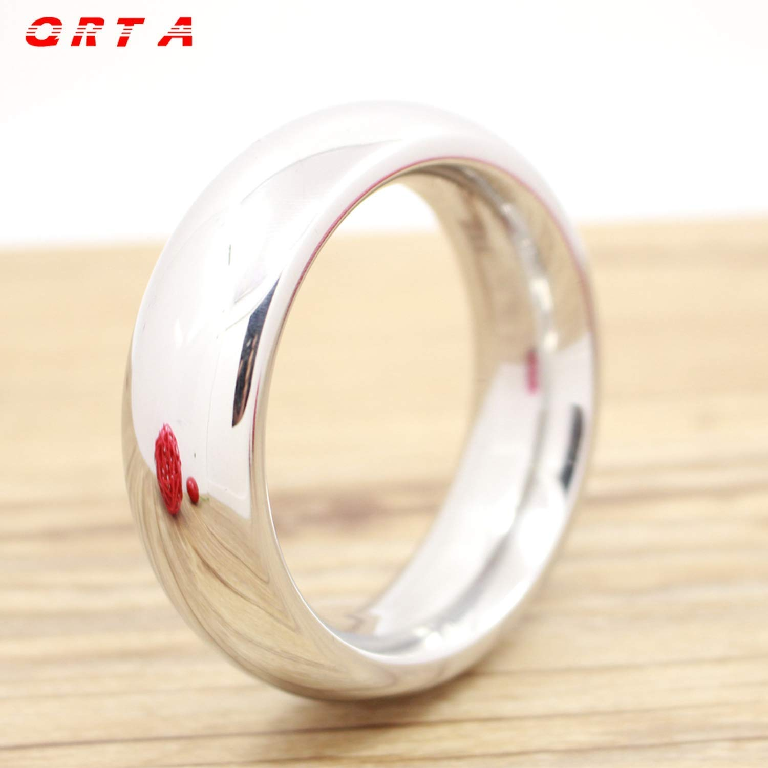 Rings Stainless Steel Ring Round 40/45/50mm Time Delay Rings Male Rings Products,40mm, Rings Ring