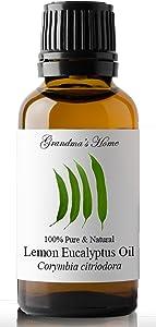 Lemon Eucalyptus Essential Oil 30 mL 100% Pure and Natural Therapeutic Grade Grandma's Home