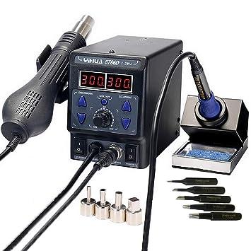 italtronik - Estación de soldadura YIHUA 8786 2 en 1, de aire caliente, con lápiz de soldadura: Amazon.es: Electrónica