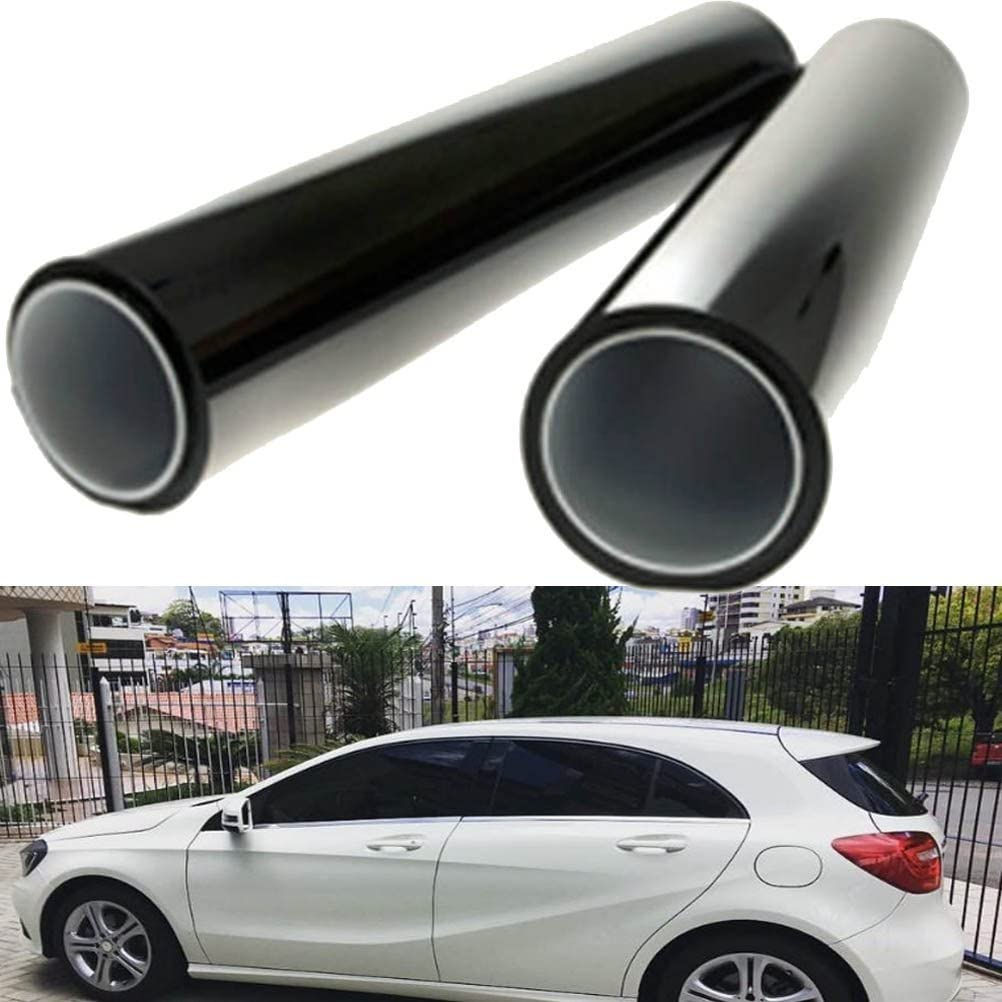 GOGOLO 2pcs-in-1roll 19.7/×39.4 Black Car Window UV Protection Adhesive Tint Film Sun Shade Wrap Sticker 8/% VLT Tinting for Pet Baby Protection