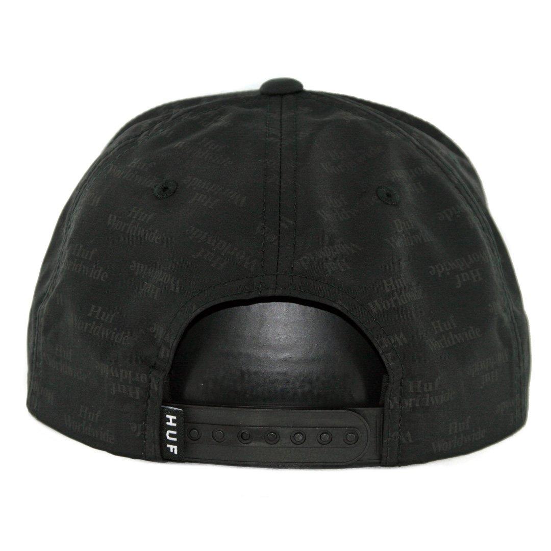 Black OFA Huf Mens Box Logo Jacquard Snapback Hat HT00165