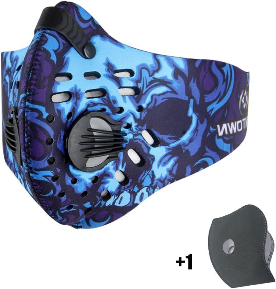 Máscara de Avanigo antipolvo, antipolen, antiescapes de gas de carbono activo para deportes al aire libre (ciclismo, athletismo)