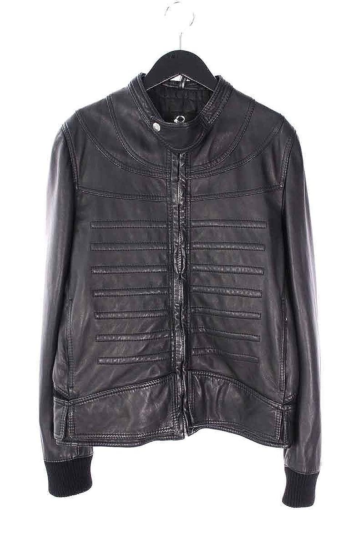 (ディオールオム) Dior HOMME 【08AW】切り替えデザインフロントボタン付きレザージャケット(46/ブラック) 中古 B07DXHBPNX  -