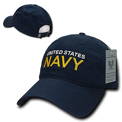 c8473401dbf Rapid Dominance US Navy Embroidered Low Profile Soft Cotton Baseball Cap -  Navy