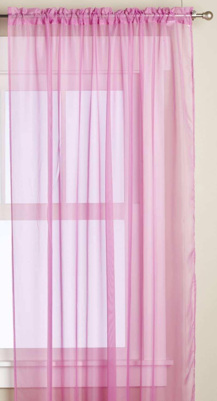 Editex Home Textiles Monique Sheer Window Panel, 55 by 63-Inch, Fuchsia