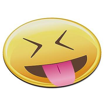 Emoji Tongue Out Closed Eyes Smiley Face Circular Pc Computer Mouse