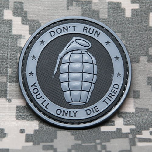NEO Tactical Gear Don't Run You'll ONLY DIE Tired - PVC Morale Patch, Hook Backed Morale Patch (SWAT)