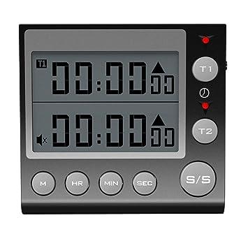 Digital temporizador de cocina reloj de cuenta atrás hasta con Loud Alarma Base magnética soporte para Black Color