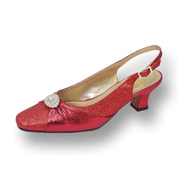 aa5c4d56ea95 Floral FIC Elaine Women Wide Width Evening Dress Shoe for Wedding ...