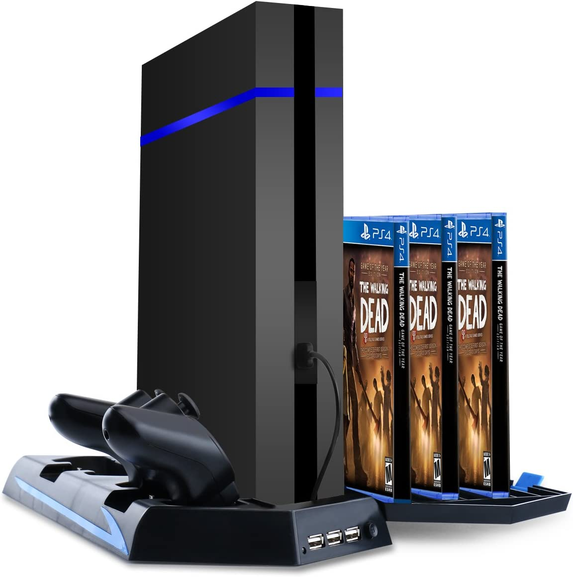 Samoleus Soporte Vertical para Juegos PS4 Accessories con Estación ...
