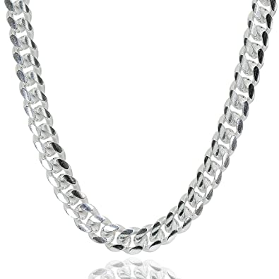 6c1d74d1bd50a Sterling Silver 4.5mm Miami Cuban Curb Link Chain Necklace for Men Women