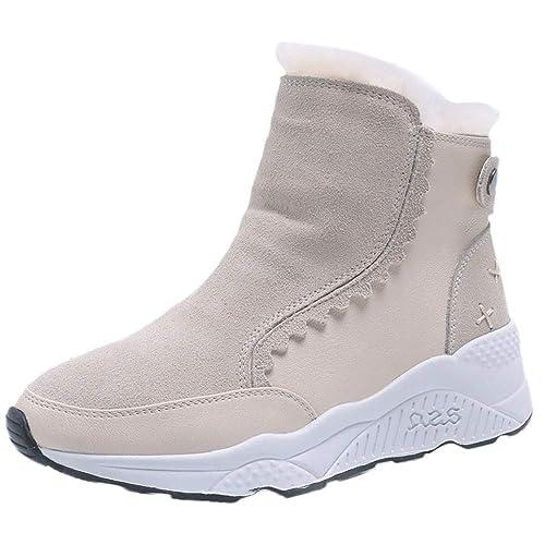 Beladla Invierno Mujer Botas De Nieve Cuero Calientes Fur Botines Plataforma Bota Boots Ocasional Impermeable Anti Deslizante Zapatos: Amazon.es: Zapatos y ...