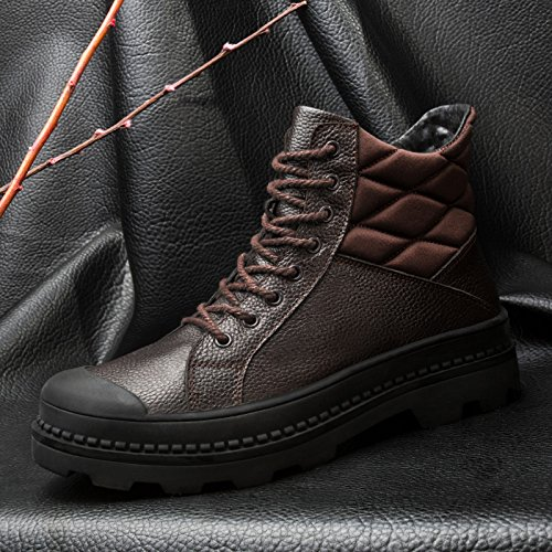 Help puymartin boots and shoes high boots Bangnan winter warm cashmere,41 brown A by ZRLsly