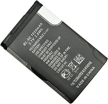 GOGOUPI High Capacity Replacement Battery Lithium Battery Cell 1020mAh 3.7V Battery for Nokia BL-5C Durable Power Tool