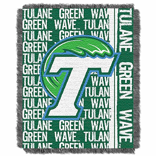 The Northwest Company NCAA Tulane Licensed Jacquard Triple Woven Throw, One Size, Multicolor