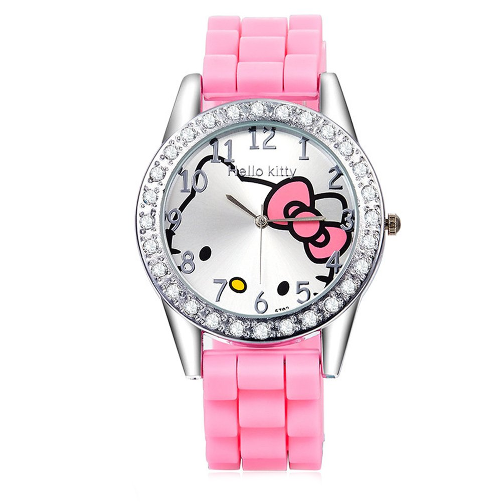 Amazon.com: Cartoon Watches Women Silicone Jelly Children Girls Dress Quartz Wristwatch Kids Hellokitty Watches (White): Cell Phones & Accessories