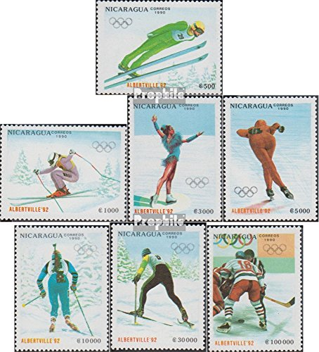 Nicaragua 3008-3014 (Complete.Issue.) 1990 Olympics Winter Games 1992 (Stamps for Collectors) Olympic Games
