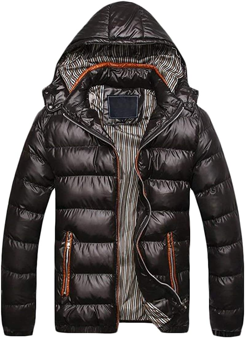 MK988 Mens Removable Hooded Quilted Jacket Coat Outwear