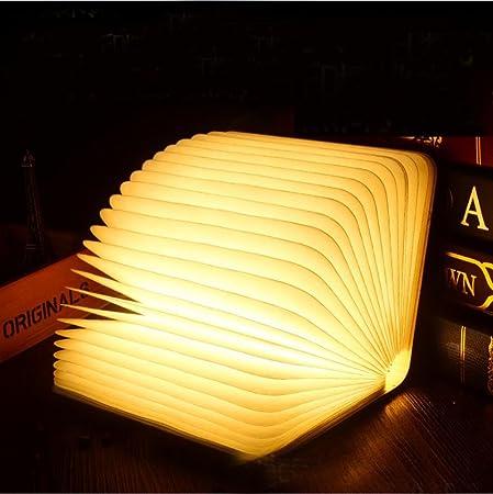 YOLOSUN DENG Luz Creativa de Libro Plegado de la Noche del ...