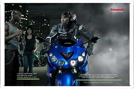 Amazon.com: Kawasaki Ninja ZX-14: Rickey gadson Campaña, 1 ...
