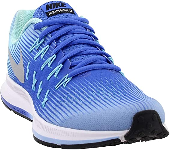 New Nike Zoom Pegasus 33 Kids 834317 403 Blue Athletic Shoes GS Size 5 5.5 6.5