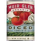 Muir Glen 罐装番茄 整个去皮番茄 不添加糖 14.5 盎司(约 411.1 克)罐装 (12 罐装)