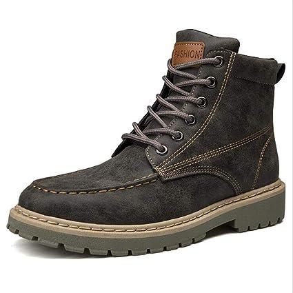 943d04c11e66d Amazon.com : XUE Men's Boots,PU, Fall Winter,Retro Low-Top Boots ...