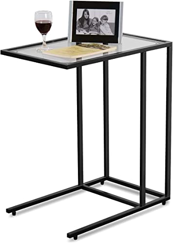 "TANGKULA 26"" Sofa Side Table Snack Table"