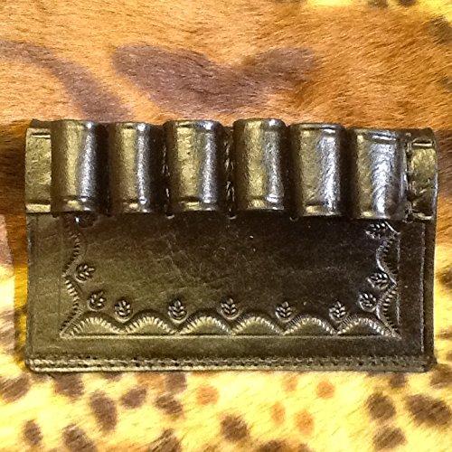 12 Ga. Black Leather Shotgun Shell Slide Holder - Shotgun Shell Slide