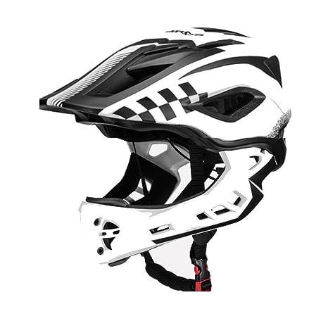 special sales sale usa online buy ROCKBROS Casque BMX Vélo Enfant Casque Intégral VTT Casque Complet 53-58cm  Anti-Choc Taille Ajustable Menton Amovible