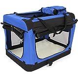amzdeal Hundebox Katzentransportbox, Faltbare Transportbox Katzen und Hunde, Klappbare Autobox Hundetransportbox, Reisebox mit Weicher Decke und Seitlichem Einstieg