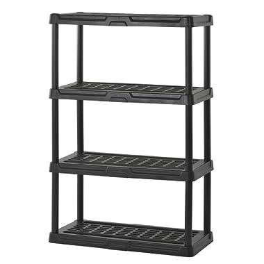 Sandusky Lee PS361856-4B Plastic Shelving, 36  Width x 56  Height x 18  Depth, Black