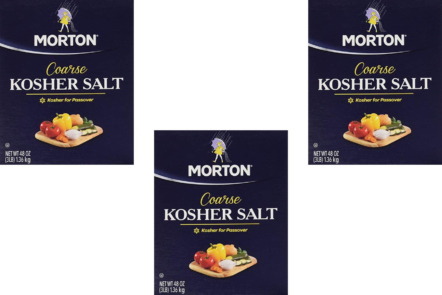 Morton Salt Kosher Salt, 48 Ounces (3 Pack)
