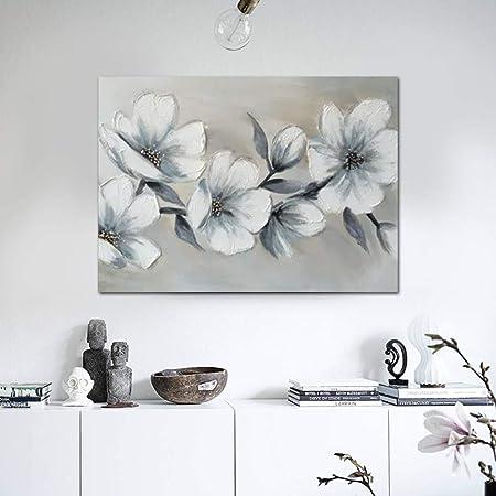 WSNDGWS Pintura al óleo reproducción de Flores Moderno ...