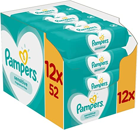 Pampers Sensitive 81687211 toallita húmeda para bebé 52 pieza(s ...