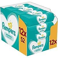 Pampers Sensitive Babydoekjes 12 Verpakkingen Met 52 Doekjes = 624 Doekjes, Pampers Unieke pH-gebalanceerd Formule…
