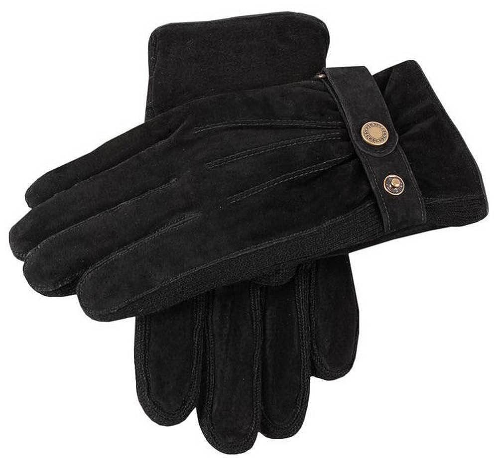 Dents Mens Pigsuede Gloves Black