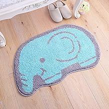 ZebraSmile Cartoon Elephant Shape Entryway Door Carpet Entryway Door Rug For Restroom Front Door Mat Home Entrance Door Carpet Indoor Carpet Entry Doormat Indoor Carpet Anti-slip Back Doormat