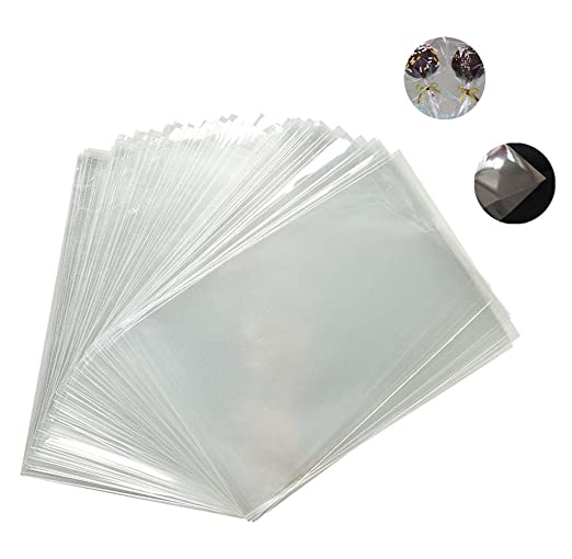 100X Phononey bolsas de celofán transparente de plástico bolsas de regalo bolsas de regalo planas transparentes para piruletas panadería dulces ...