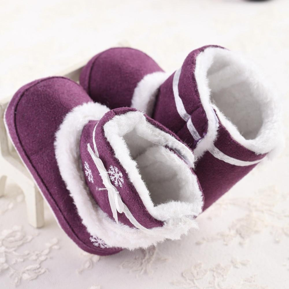 Baby Sole Snow Soft Crib Shoes Toddler Boots Amiley Baby Boots